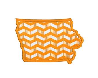 Iowa State Applique Machine Embroidery Design Pattern, digital instant download file.