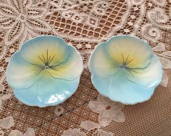 Pair of Adderly Bone china trinket dishes
