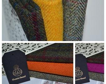 GREEN / BROWNS  RANGE Harris Tweed Fabric Bundles 100% Pure Virgin Wool
