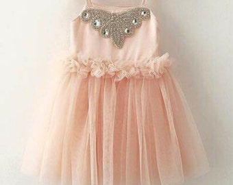 Satin tulle dress