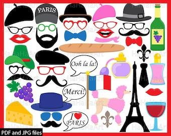 French photobooth | Etsy | {Französische küche clipart 13}