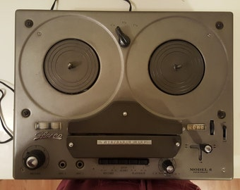 Vintage Tandberg model G four track reel to reel audio analog recorder right and left input wires included