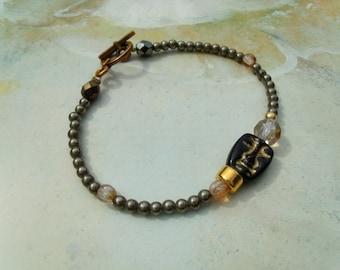 Theatre natural pyrite sphere bracelet