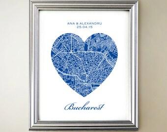Bucharest Heart Map