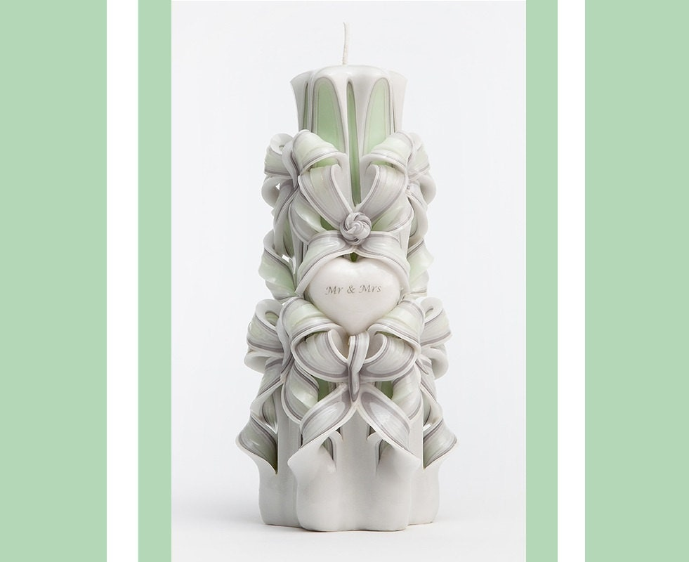 Candle Wedding Gift: Engagement Gift Wedding Gift Carved Candle Perfect Gift