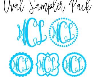 Oval Monogram Sampler Pack