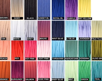 "Skinny Elastic 1/8"", Thin Elastic Wholesale for Headbands, 1/8"" Skinny Elastic By the Yard or 5 Yards or 10 Yards 31 Colors"