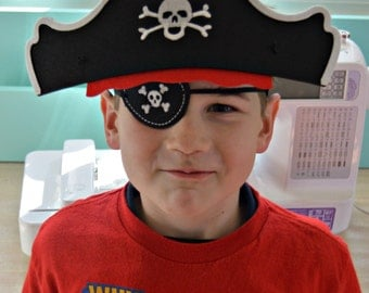 Pirate Hat and Eye Patch-Pirate Party-Pirate Party Favor