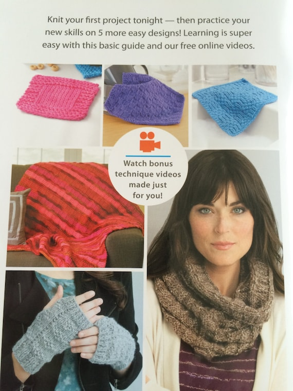 Knitting Basics Getting Started : Learn to knit kit beginner knitting book how get