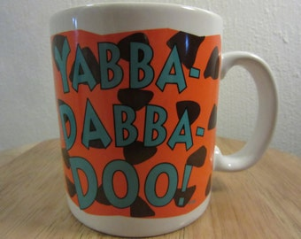 Yabba Dabba Doo Mug Vintage, The Flintstones Yabba Dabba Doo Mug, The Flintstones Gift Mug, The Flintstones Collectible, Yabba Dabba Doo,