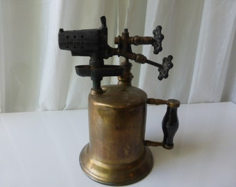 Vintage 1920's Clayton & Lambert Co. rare double valve and pump blow torch.