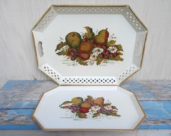French Country Matching Vintage Metal Trays!
