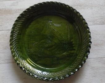 Unique Vintage Pottery Pie Plate!