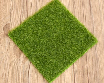 Fake grass etsy for Faux grass for crafts