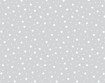 45'' Maywood Studios Little Ones Flannel Gray White Random Dots by the Yard MASF 8228-KW