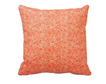 7 Sizes Available: Decorative Throw Pillow  Orange Throw Pillow Orange Pillow Herringbone Pillow 22x22 Pillow Throw Pillow Cover