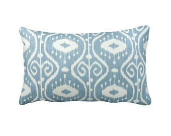 7 Sizes Available: Ikat Pillow Cover Decorative Pillow Throw Pillow Blue Pillow Blue Ikat Pillow Blue Home Decor Decorative Throw Pillow