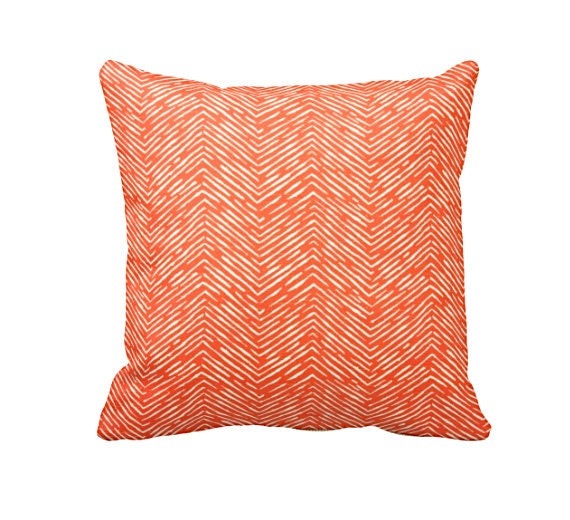 Dimensions Of Throw Pillow : 7 Sizes Available: Decorative Throw Pillow Orange Throw