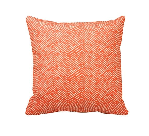 Standard Decorative Pillow Measurements : 7 Sizes Available: Decorative Throw Pillow Orange Throw
