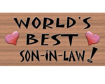Son in Law Wood Signs - Handmade wood sign Son In Law- Son In Law wood sign - Primitive Son In Law sign GS195 Son In Law