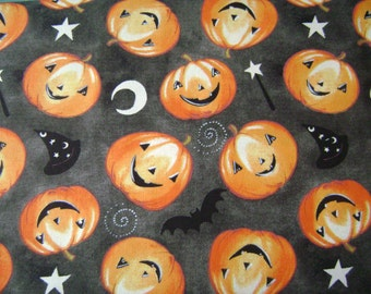 Tossed Pumpkins Fabric Sold by the Yard