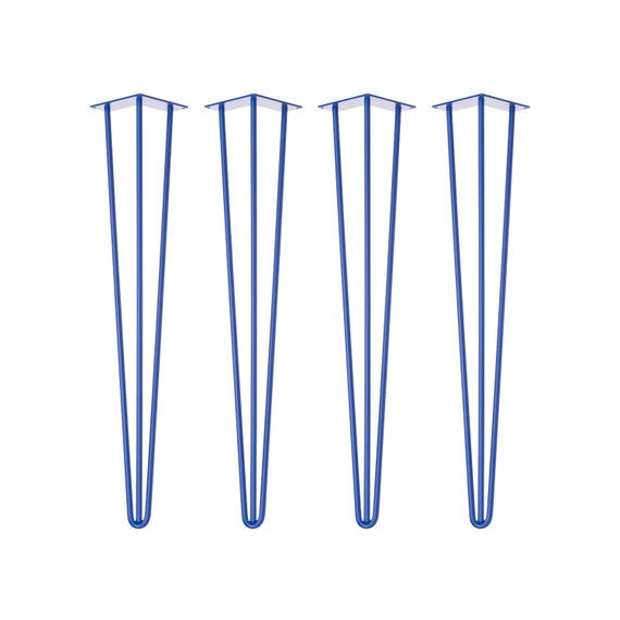 4 x ROYAL BLUE Hairpin Legs - Table Legs