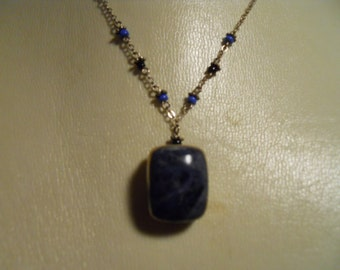 Vintage sterling and lapis necklace