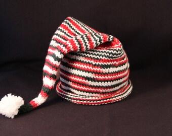 Newborn - Elf Hat - Christmas - knit baby hat - baby knit hat  - baby hat knit - newborn knit hat - knit hat newborn - newborn photo prop