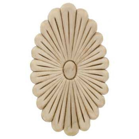 Oval Daisy Wood Applique Decorative Wood Wood Crafts 1 Pc