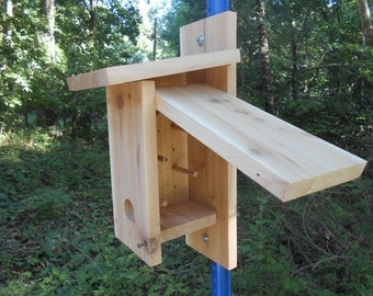 "Raw Cedar Songbird Roosting Box / Birdhouse - With Cleanout - 18"" x 7"" x 5"""