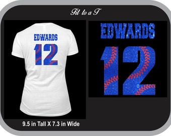 Add-On Custom Baseball/Softball Back Name and Number