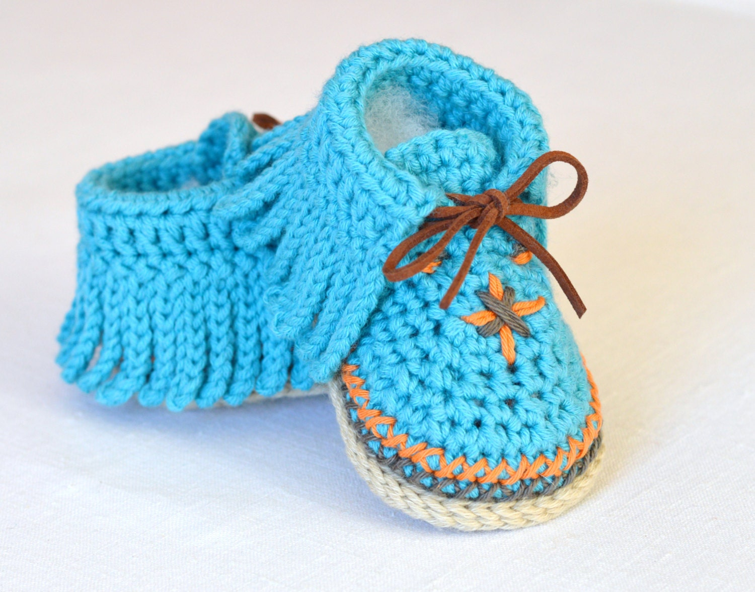 Crochet Pattern Baby Moccasins 3 Sizes Easy Photo Tutorial