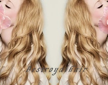 22 Inches Dark Ash Blonde Color Indian Remy Clips in Hair Extension RHS113