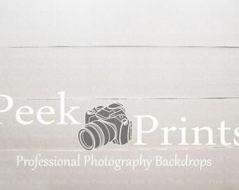3ft.x2ft Chalky White Wood *EXCLUSIVE* Vinyl Backdrop, Vinyl Photography Backdrop, Peek Prints Backdrop