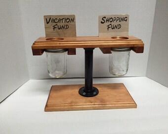 mason jar savings bank
