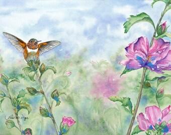 Lexie's Hummingbird 11x14 Giclee Print