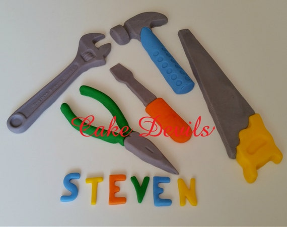Party Cake Toppers, Colorful Tools Cake Decorations, Handyman Cake ...