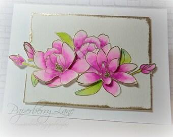Bright & Cheery Magnolia Greeting Card