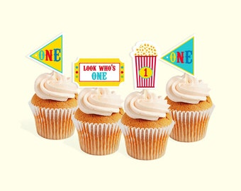 INSTANT DOWNLOAD Circus cupcake toppers