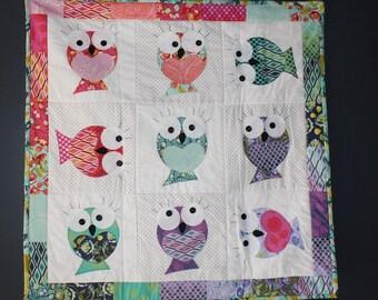 Bird-Fish Wall Quilt Kit -Girl
