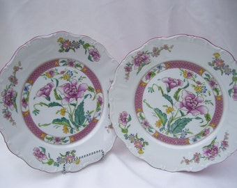 5 Seltmann Weiden Bavaria W Germany Floral Chintz Scalloped Porcelain Round Dinner Plate