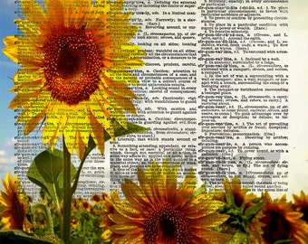 Sunflower Wall Art, Sunflowers Art, Sunflower Decor, Sunflower Wedding Art