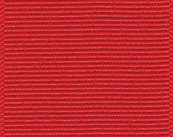 "3"" Red Grosgrain Ribbon - Schiff/Offray - Made in USA 100% Polyester"