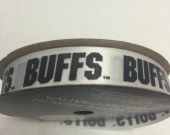"9/16"" Colorado Buffs Ribbon, NCCA ribbon  Offray College Ribbon -9 feet / University of Colorado Buffaloes"