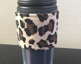 Cheetah Reusable Coffee Sleeve