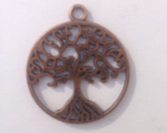 Celtic Tree of Life - Peace Tree Pendant, Copper finish, for jewellery making