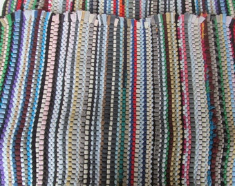 Woven  Rugs  - area throw  Rugs  multi color - set of 2 23'' x 39''
