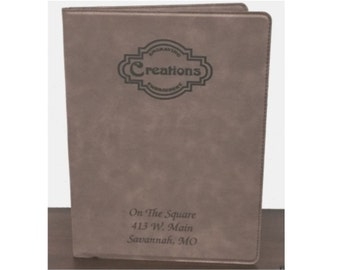 Legal Pad Holder Personalized Brown Leatherette Engraved Free Padfolio Personalized Legal Pad Holder