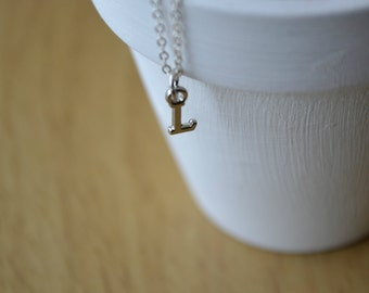 L Necklace, Letter Necklace, Sterling Silver Necklace, Initial Necklace, Dainty Necklace, Personalized Jewelry, Letter Charm Necklace,