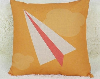 Paper Airplane - Pillow Cover